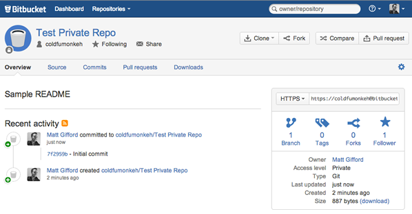 Private Bitbucket repository
